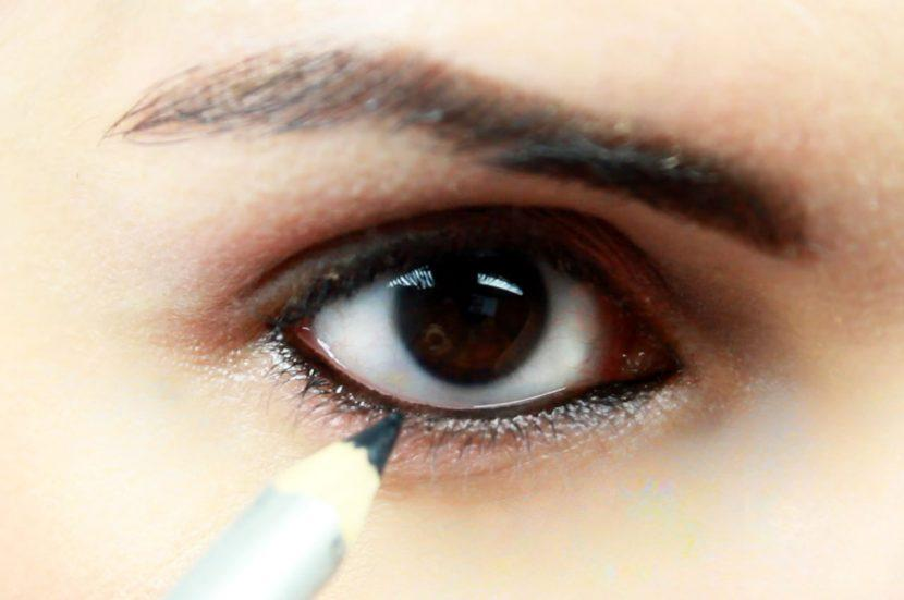 difuminar la raya debajo ojo