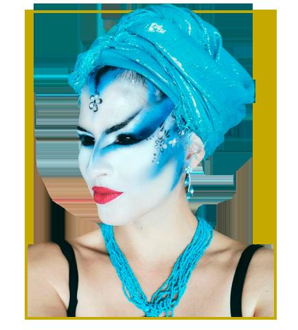 maquillaje fiestas y eventos, comparsas, falleras o body painting
